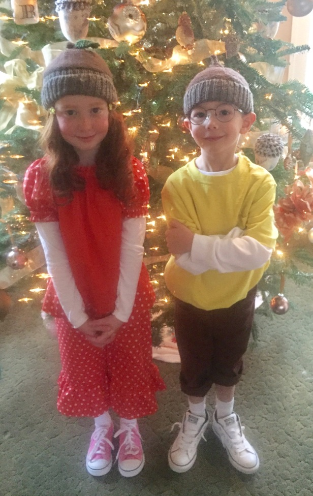 The real Gert and Bert (my grands Sophia and Frankie)